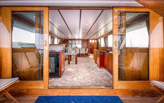 Motor Yacht CHANTELLA Aft Deck to Main Saloon