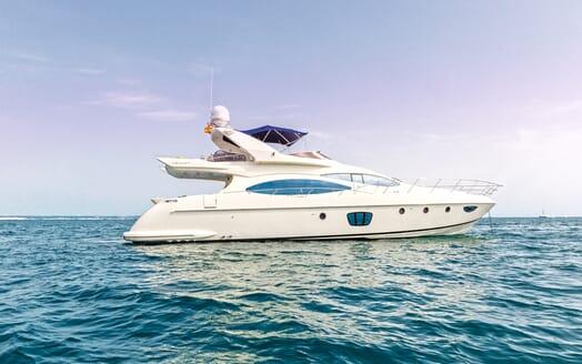 Motor Yacht Wini under anchor