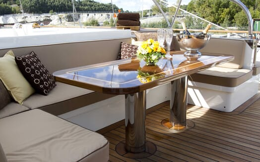 Sailing Yacht Sunny Hill outdoor dining area