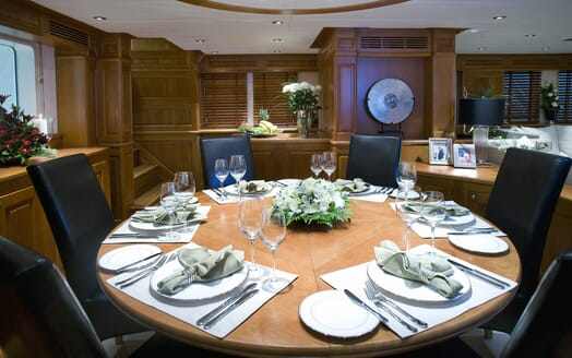 Sailing Yacht Sunny Hill dining area