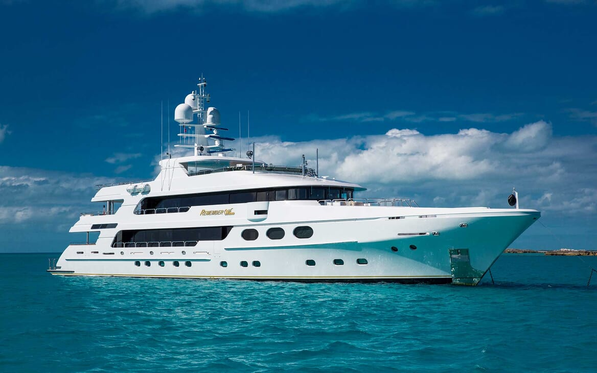 Motor Yacht Remember When anchored