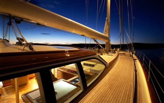 Sailing Yacht Asolare side deck