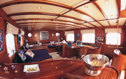Sailing Yacht Ofelia living area