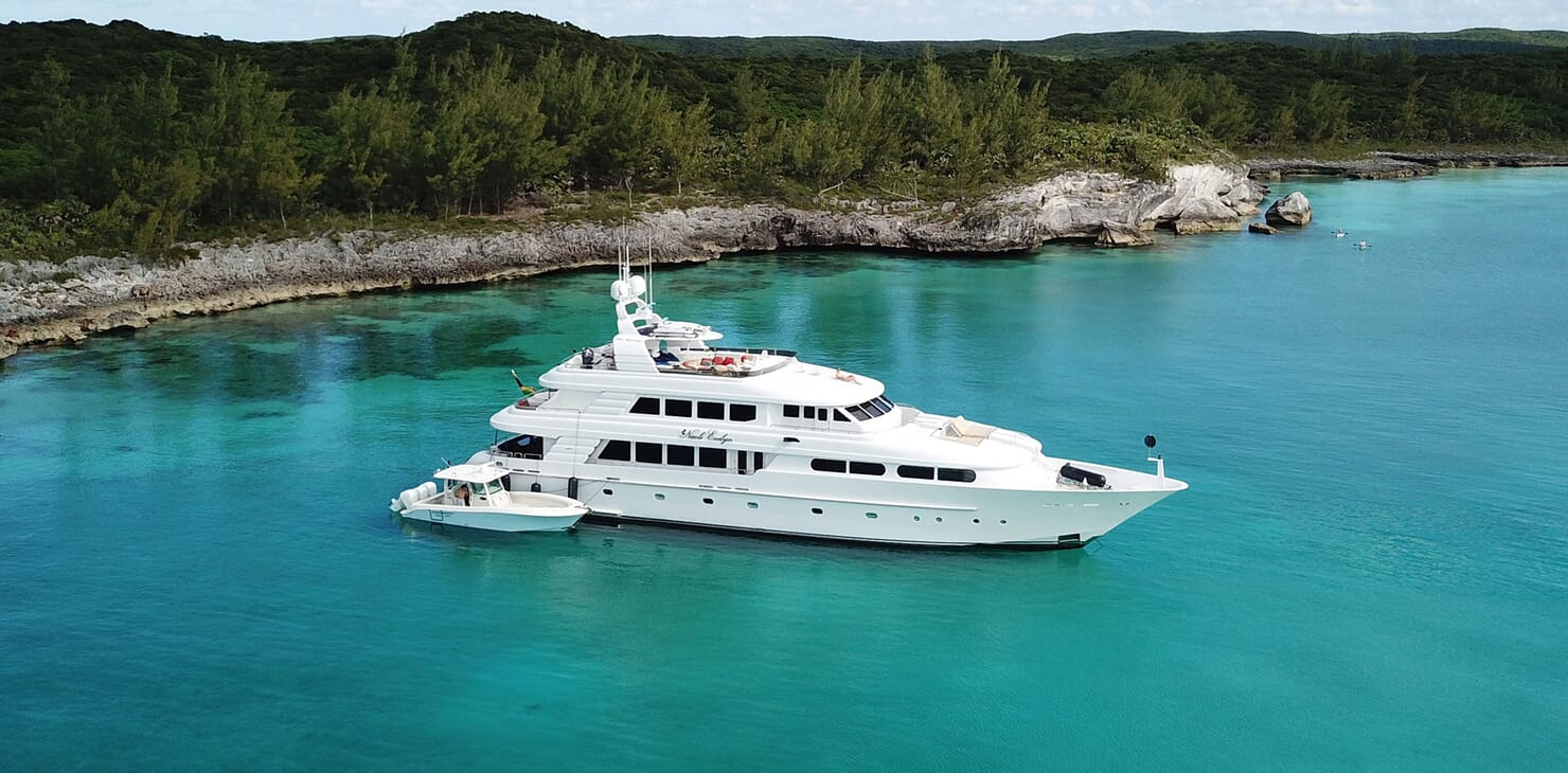 Motor Yacht Nicole Evelyn anchored
