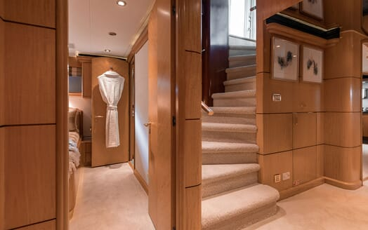 Motor Yacht NICOLE EVELYN Stairs and Guest Staterooms