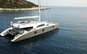 Sailing Yacht IPHARRA Anchored