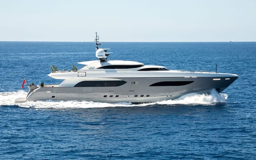 Motor Yacht TATII Profile Underway