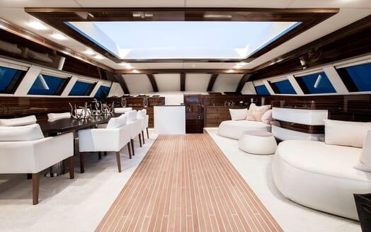 Motor Yacht TATII Upper Saloon