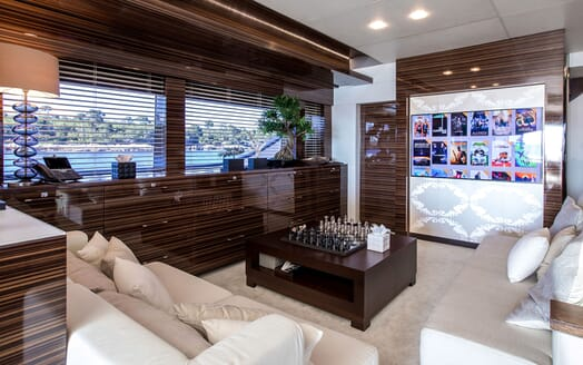 Motor Yacht TATII Main Saloon TV