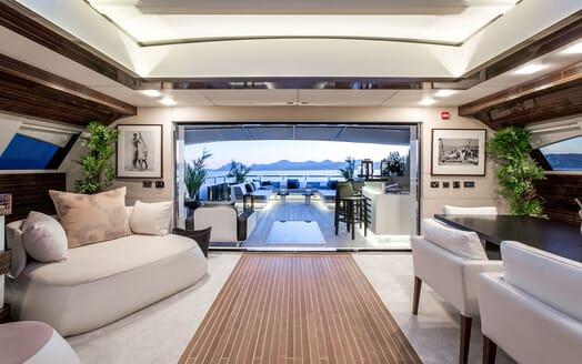 Motor Yacht TATII Saloon to Aft