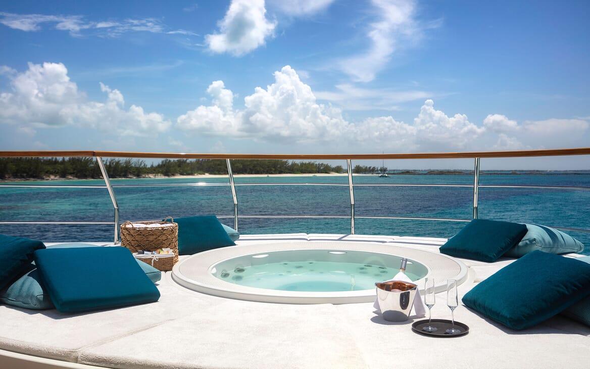 Motor Yacht MYSTIC Sun Deck Jacuzzi