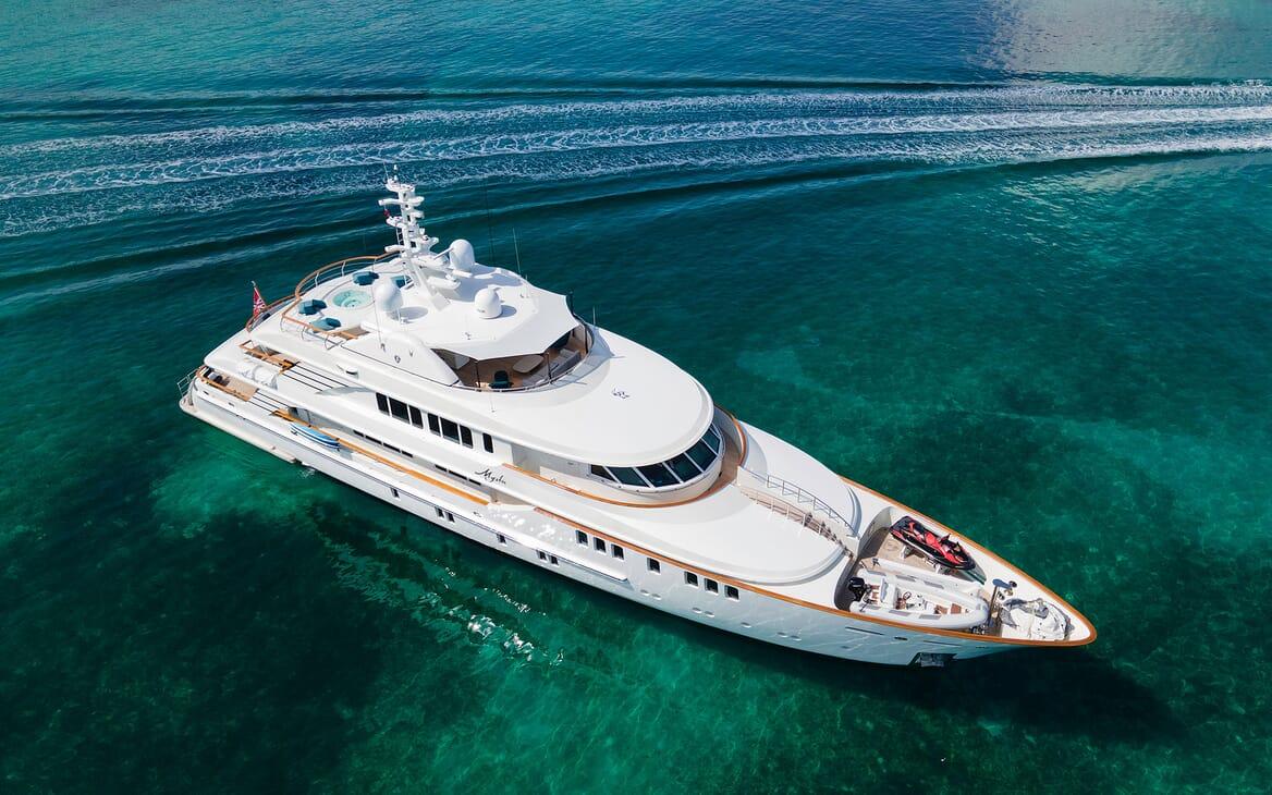 Motor Yacht MYSTIC Aerial Exterior