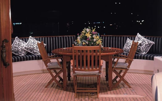 Motor Yacht Cassiopeia outdoor seating