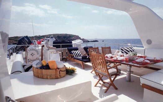 Motor Yacht Cassiopeia sundeck