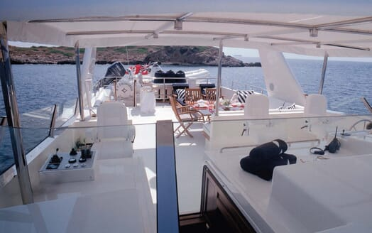 Motor Yacht Cassiopeia flydeck