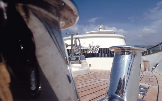 Motor Yacht Cassiopeia deck