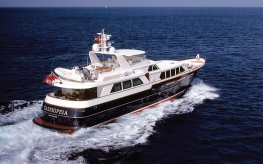Motor Yacht Cassiopeia cruising