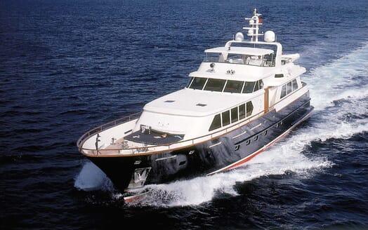 Motor Yacht Cassiopeia underway