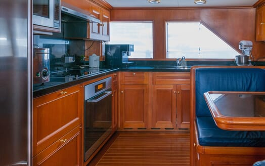 Motor Yacht Cassiopeia galley