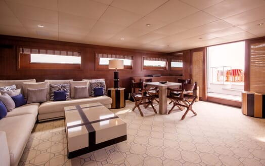 Motor Yacht ELEMENT Lower Deck Saloon