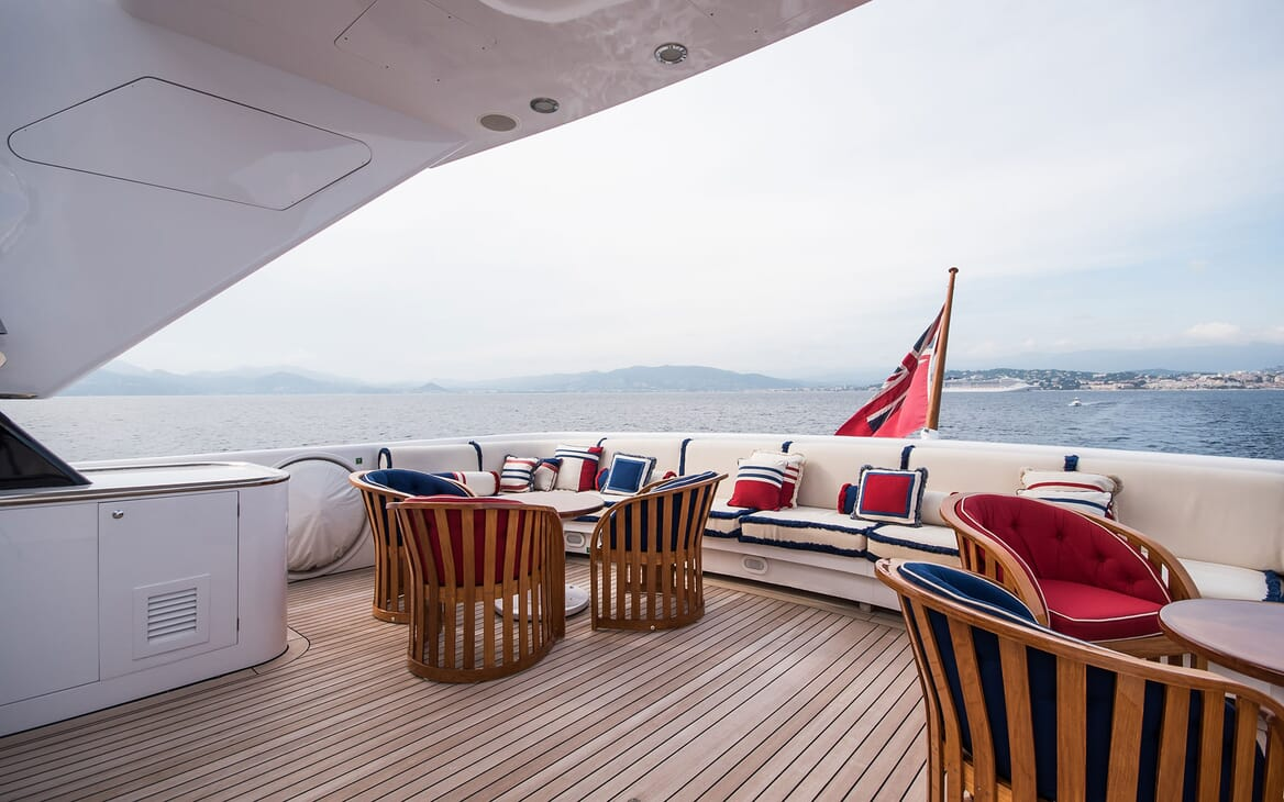 Motor Yacht ELEMENT Upper Aft Deck