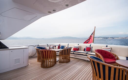 Motor Yacht ELEMENT Upper Aft Deck