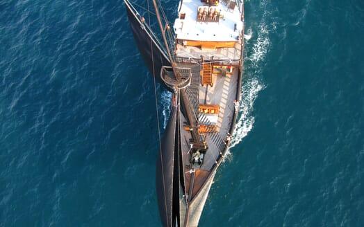 Sailing Yacht El Aleph aerial