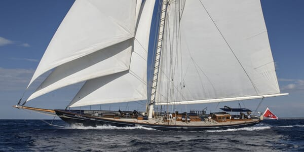 Sailing Yacht Alexa of London sailing