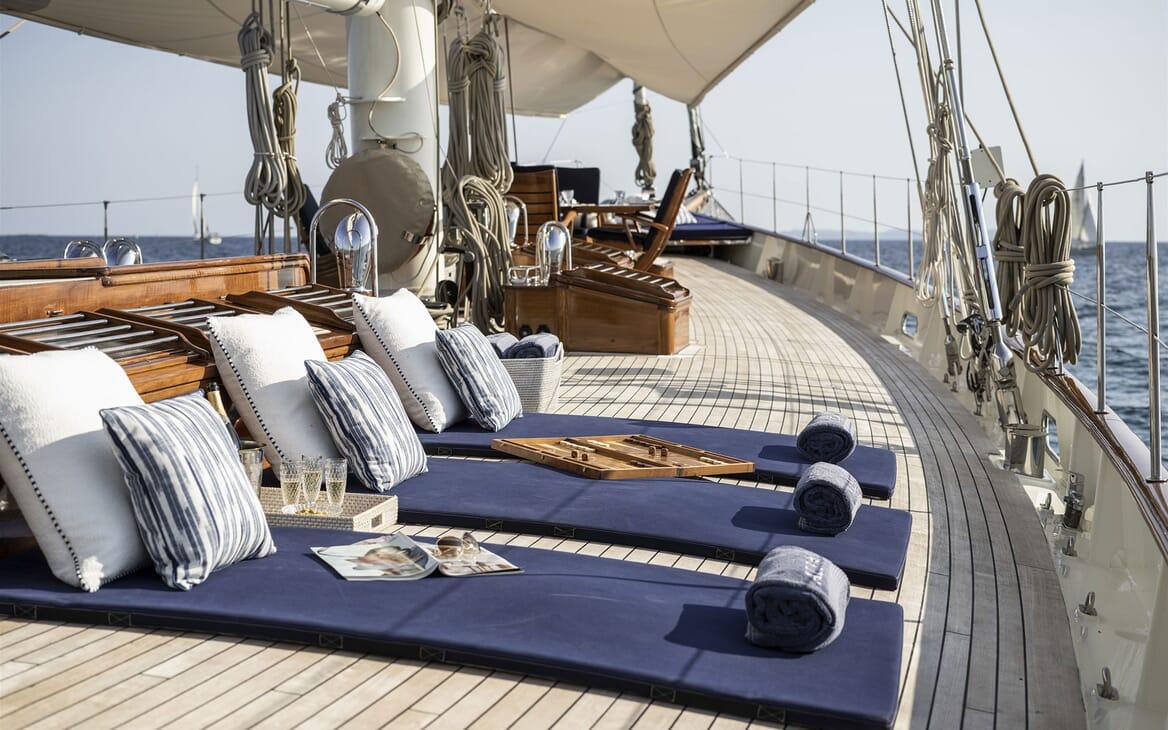 Sailing Yacht ALEXA OF LONDON Deck Sun Pad