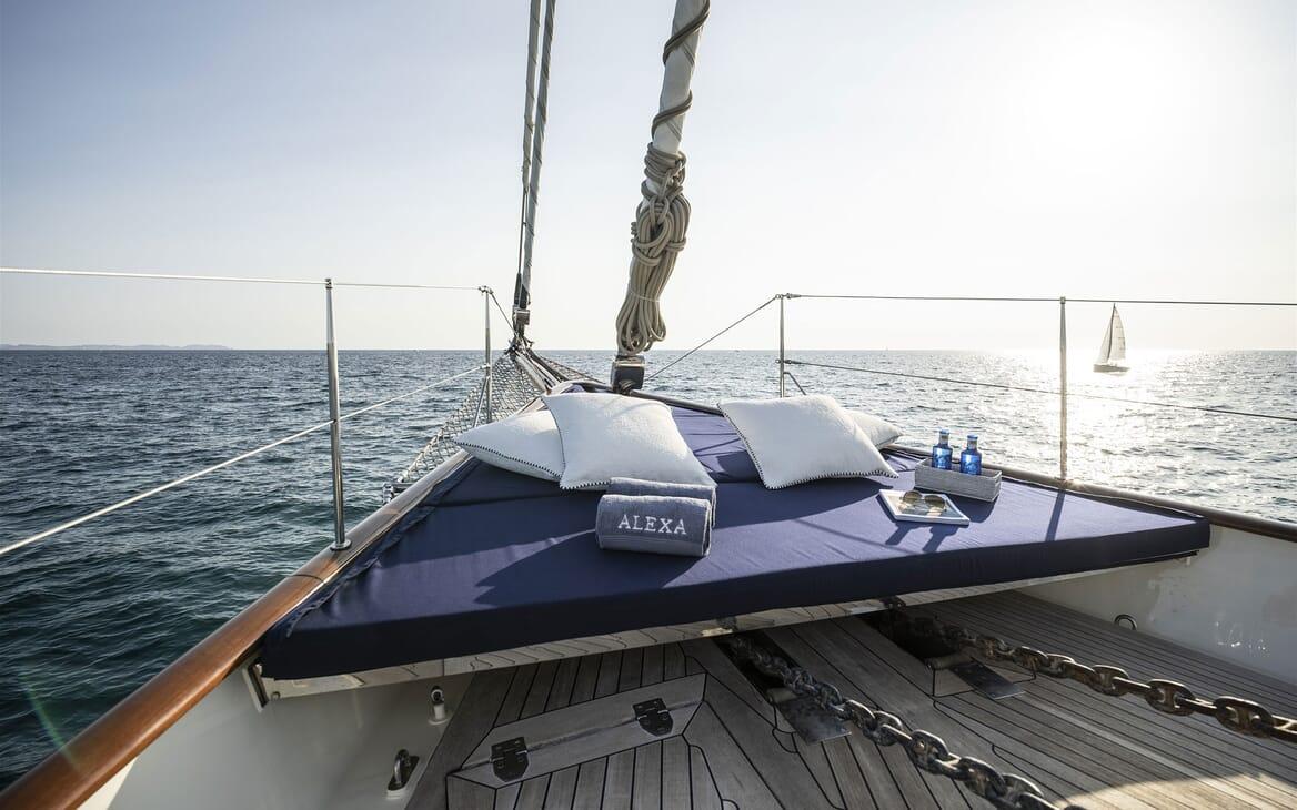 Sailing Yacht ALEXA OF LONDON Bow Sun Pad