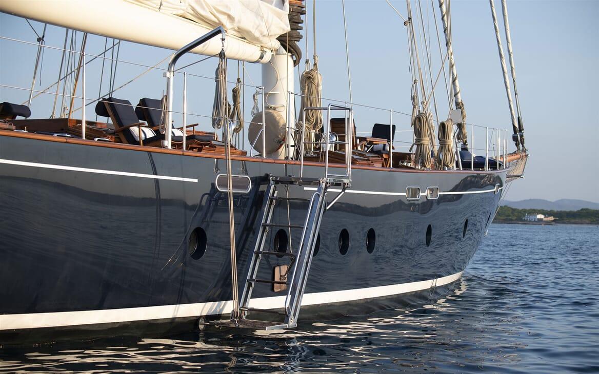 Sailing Yacht ALEXA OF LONDON Swim Ladder