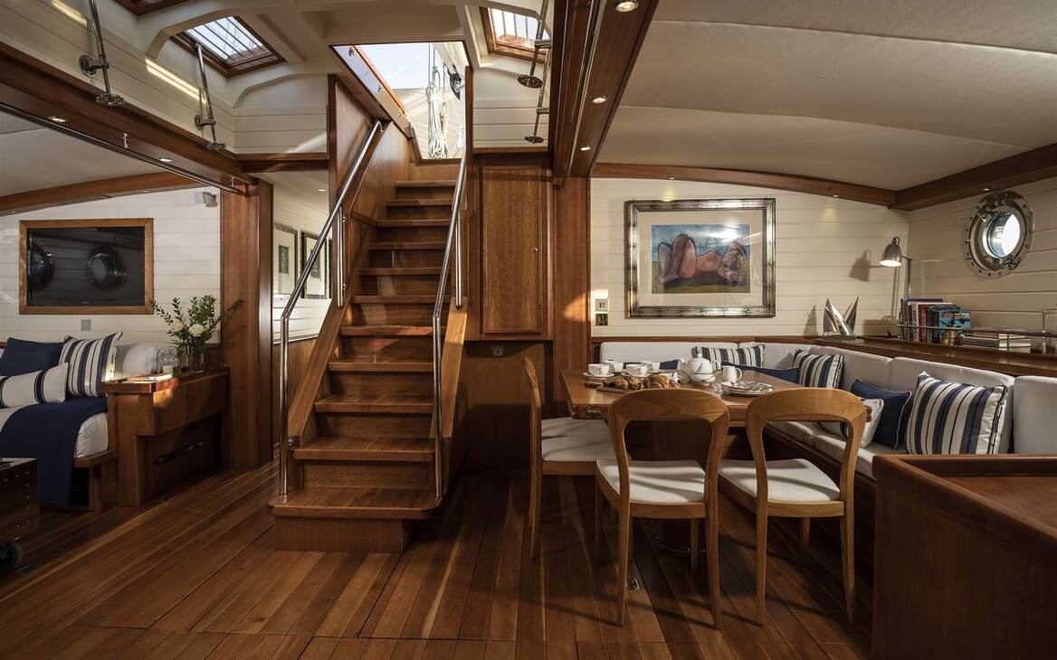 Sailing Yacht ALEXA OF LONDON Main Salon Table