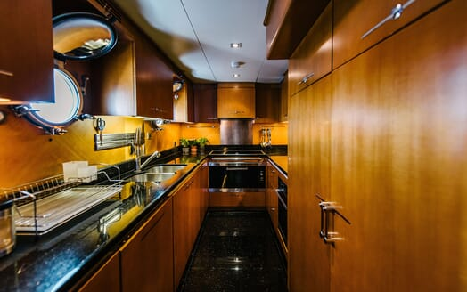 Motor Yacht Perla Nero galley