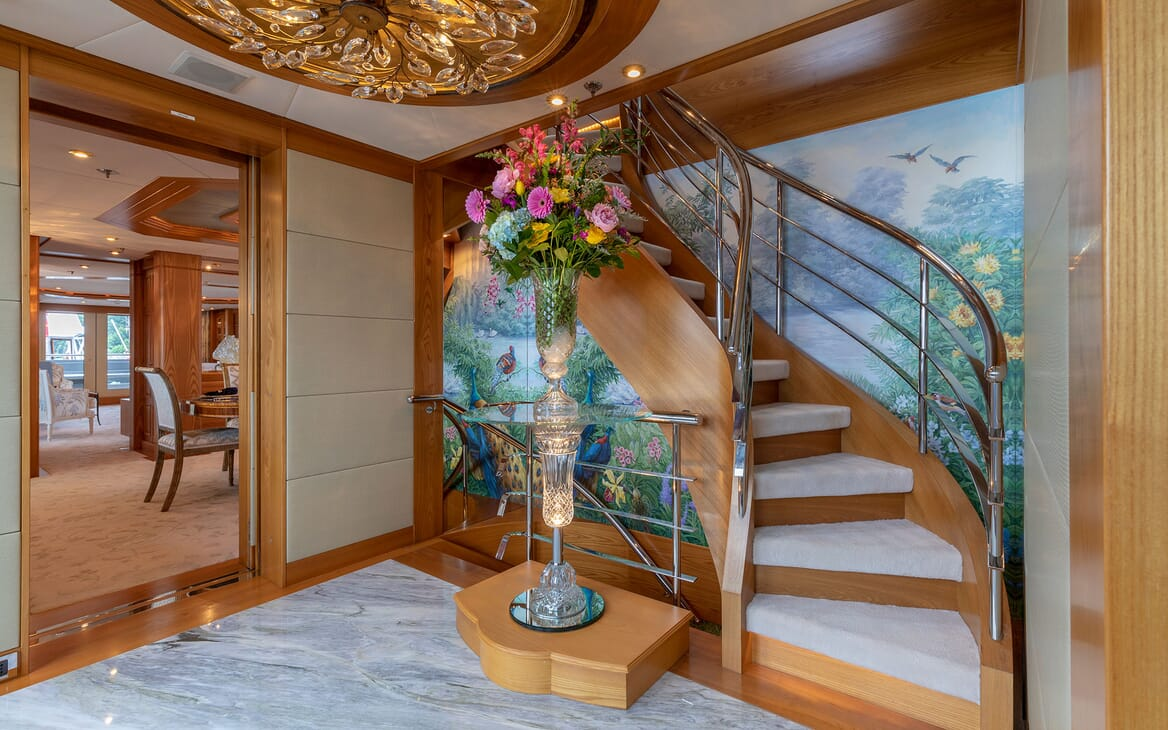 Motor Yacht VIBRANCE Staircase