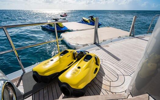 Motor Yacht VIBRANCE Swim Platform with Toys