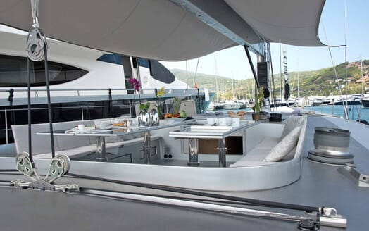 Sailing Yacht Roma cockpit