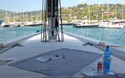 Sailing Yacht Roma foredeck