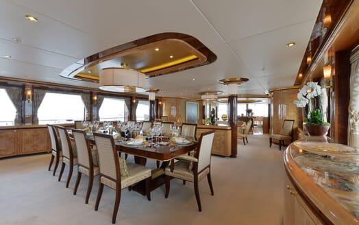 Motor Yacht Lady Sara dining area
