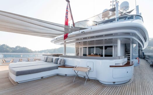Motor Yacht TRIPLE 7 Main Deck Exterior Space