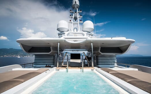 Motor Yacht TRIPLE 7 Sun Deck Swimming Pool