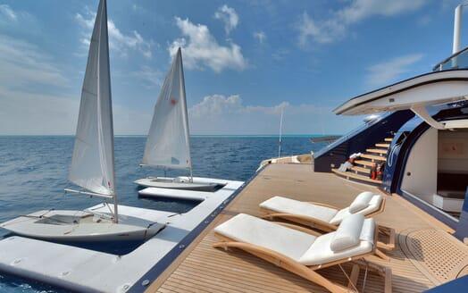 Motor Yacht TRIPLE 7 Aft Deck Beach Club