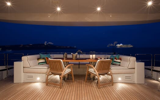 Motor Yacht Perle Noire aft seating