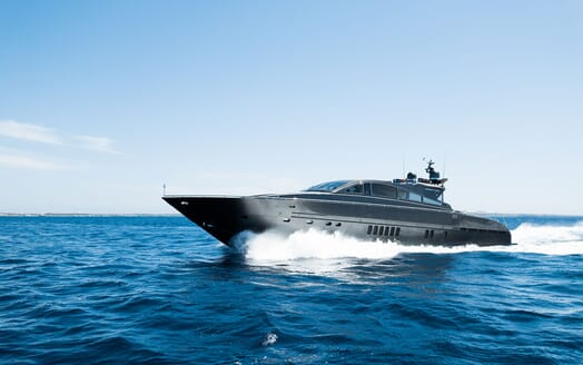 Motor Yacht AYA Profile Underway