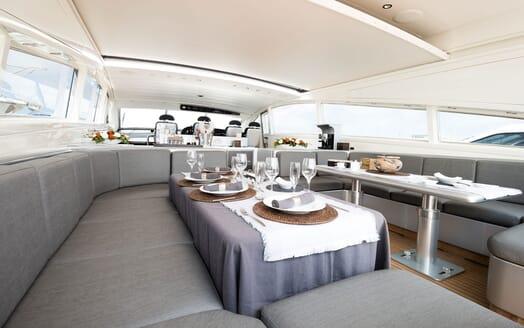 Motor Yacht AYA Dining Set Up