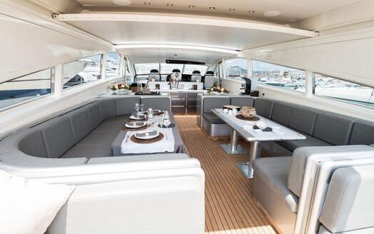 Motor Yacht AYA Deck Seating