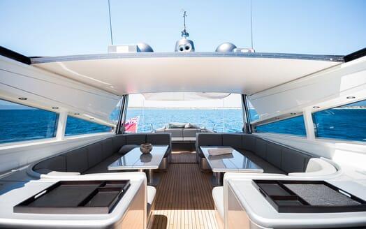 Motor Yacht AYA Sun Deck Top Down