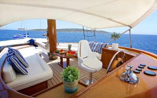 Sailing Yacht Hermina flydeck