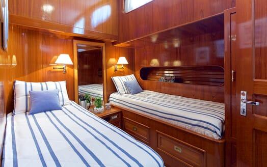 Sailing Yacht Hermina twin cabin