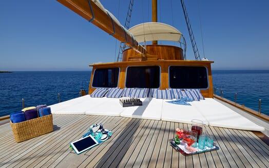 Sailing Yacht Hermina deck