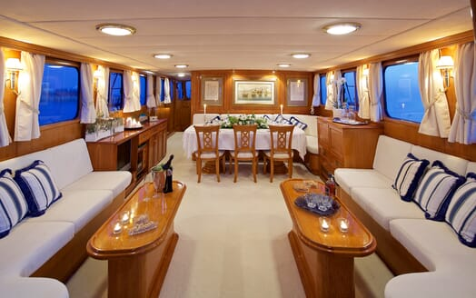 Sailing Yacht Hermina living area